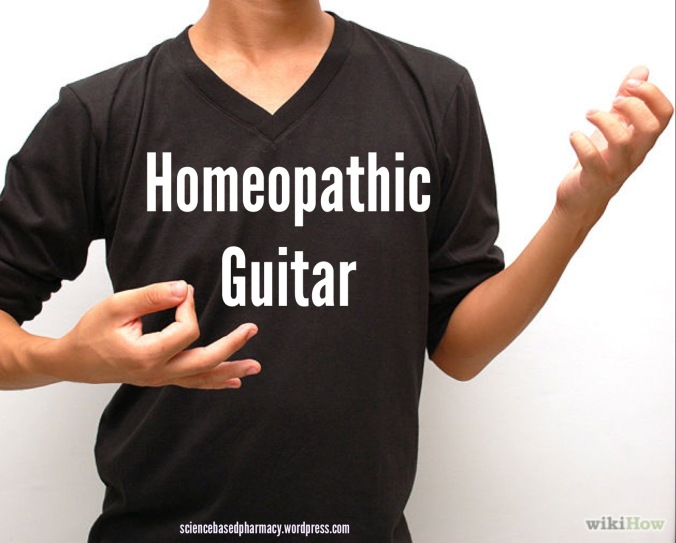Homeopathy is the air guitar of medicine