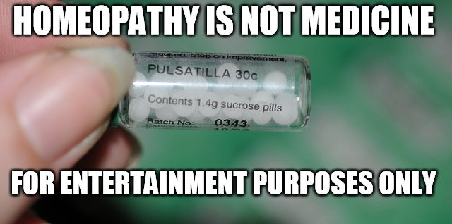 Homeopathy is Not Medicine